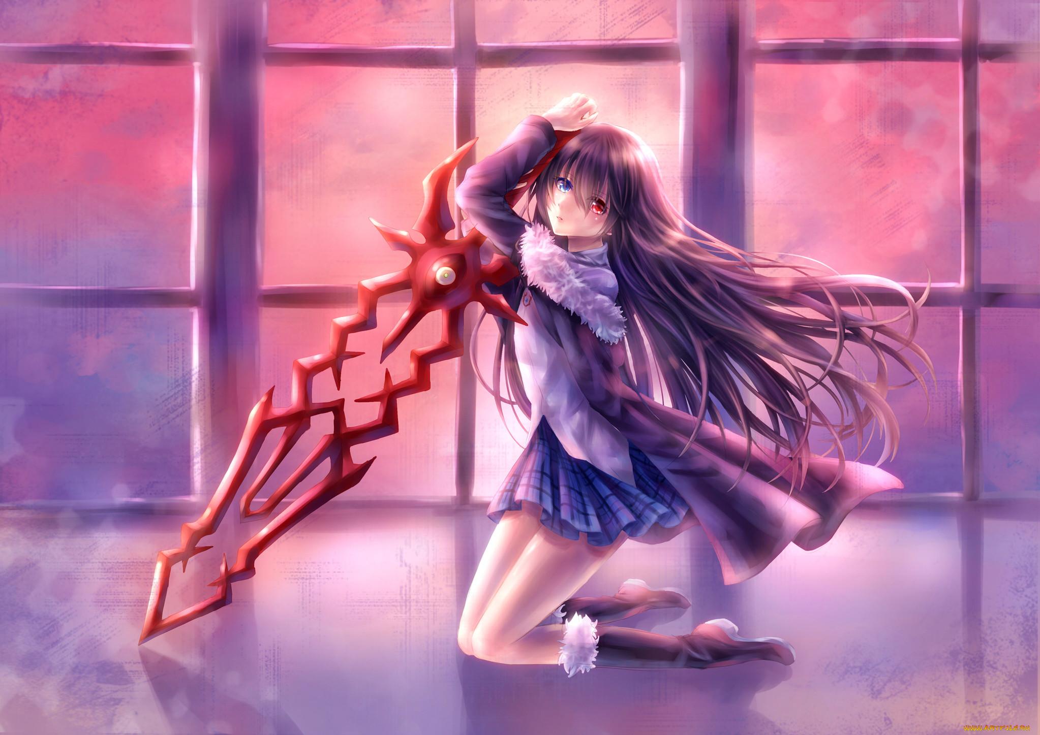 Смотреть картинки аниме девушек с мечами